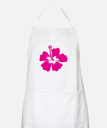 Hot Pink Hibiscus Flower Apron