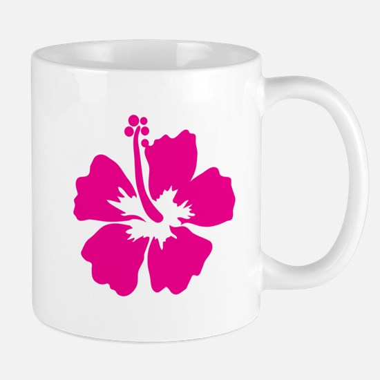 Hot Pink Hibiscus Flower Mug