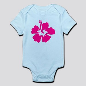 Hot Pink Hibiscus Flower Infant Bodysuit