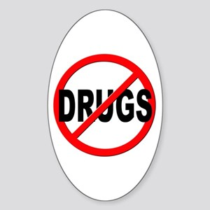 Anti / No Drugs Sticker (Oval)
