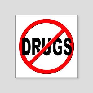 """Anti / No Drugs Square Sticker 3"""" x 3"""""""