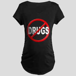 Anti / No Drugs Maternity Dark T-Shirt