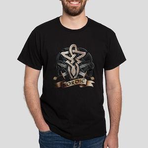 viking knot tribal celtic sword axe Dark T-Shirt