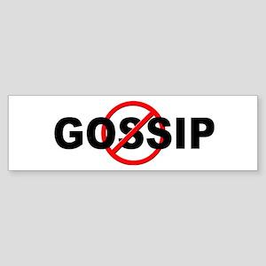 Anti / No Gossip Sticker (Bumper)