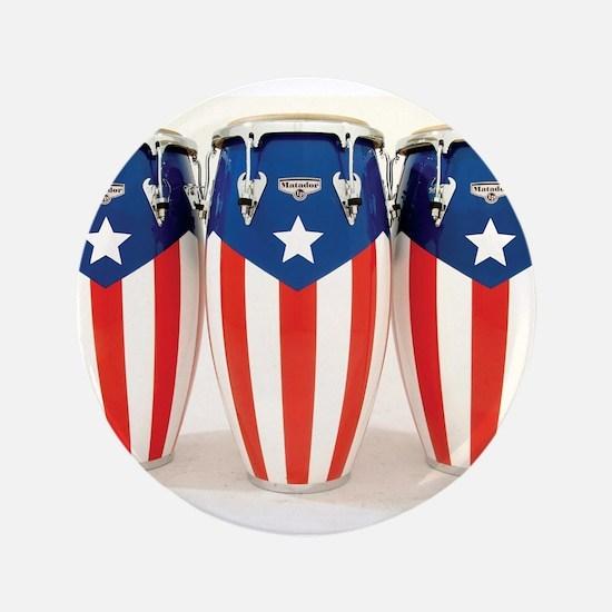 "Puerto Rico Drums 3.5"" Button"