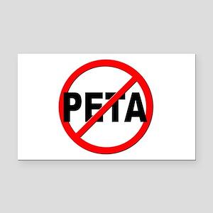 Anti / No PETA Rectangle Car Magnet