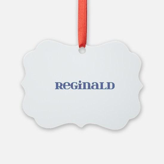 Reginald Blue Glass Ornament