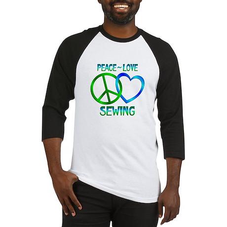 Peace Love Sewing Baseball Jersey