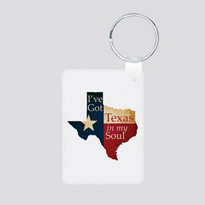 Texas in my Soul Aluminum Photo Keychain