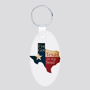 Texas in my Soul Aluminum Oval Keychain