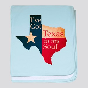 Texas in my Soul baby blanket