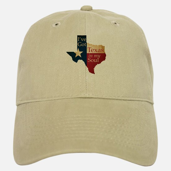 Texas in my Soul Baseball Baseball Cap