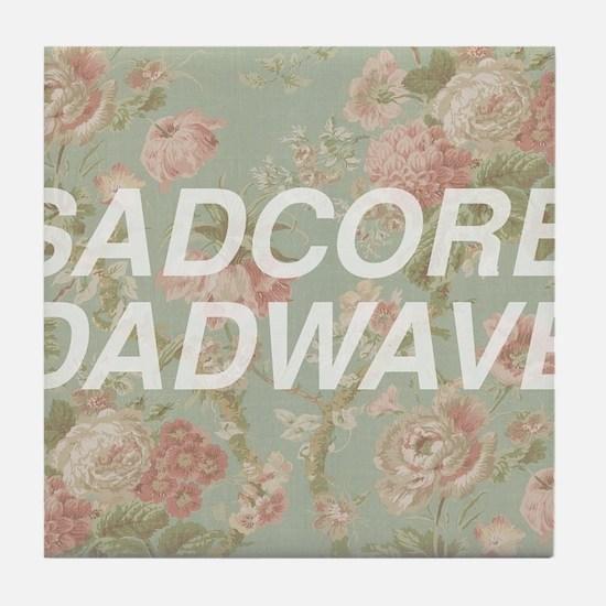 Sadcore Dadwave Tile Coaster