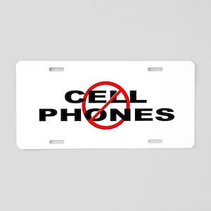 Anti / No Cell Phones Aluminum License Plate