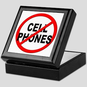 Anti / No Cell Phones Keepsake Box