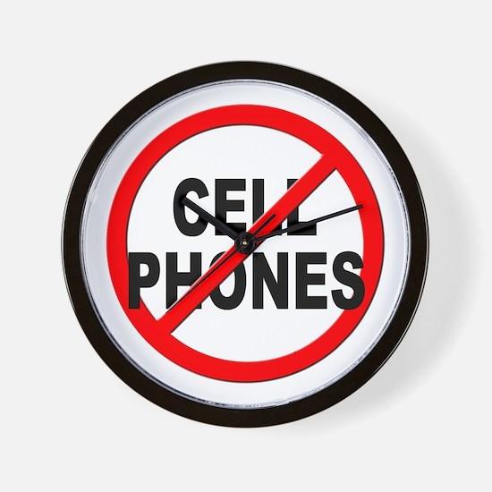 Anti / No Cell Phones Wall Clock