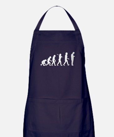 Evolution of Man Texting Apron (dark)