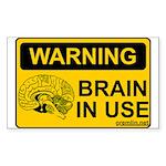 braininuse Sticker (Rectangle 10 pk)