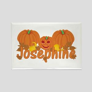 Halloween Pumpkin Josephine Rectangle Magnet
