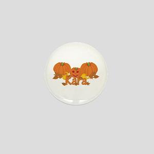Halloween Pumpkin Kara Mini Button