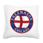 English Freemasons Square Canvas Pillow
