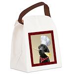 Black Labrador Chef Canvas Lunch Bag
