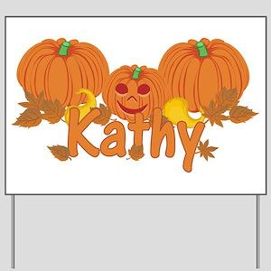 Halloween Pumpkin Kathy Yard Sign