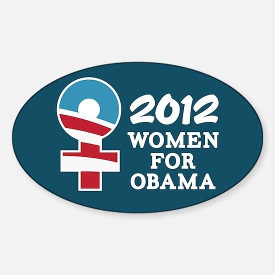Women Obama 2012 Sticker (Oval)