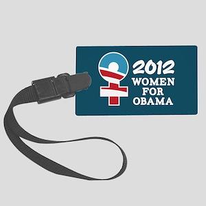 Women Obama 2012 Large Luggage Tag