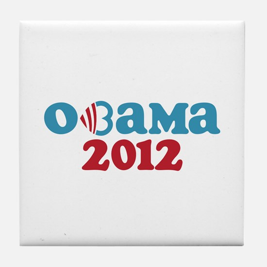Obama Heart 2012 Tile Coaster
