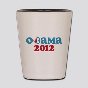 Obama Heart 2012 Shot Glass