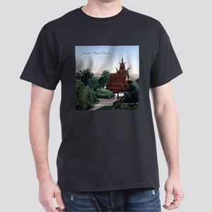 Vintage Fantoft Stave Church Dark T-Shirt