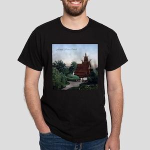 Vintage Fantoft Stave Church Dark T-Shirt