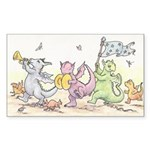 Dragons on Parade Sticker (Rectangle 10 pk)