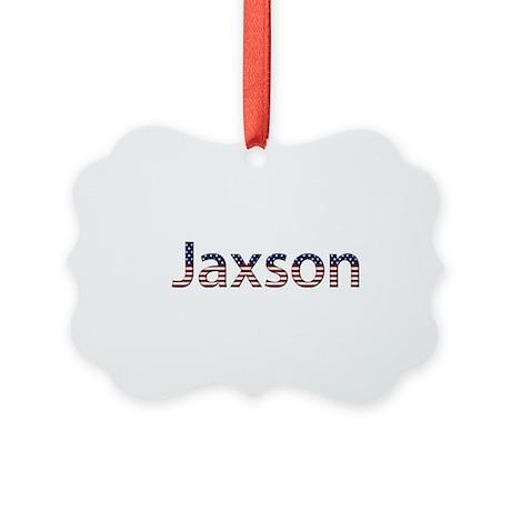 Jaxson Stars and Stripes Picture Ornament