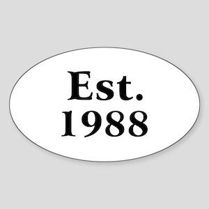 Est. 1988 Oval Sticker