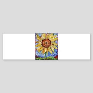 Sunflower!Colorful flower art! Sticker (Bumper)