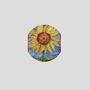 Sunflower!Colorful flower art! Mini Button