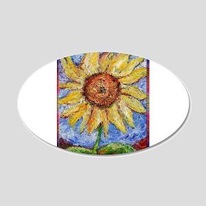 Sunflower!Colorful flower art! 20x12 Oval Wall Dec