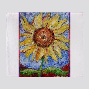 Sunflower!Colorful flower art! Throw Blanket