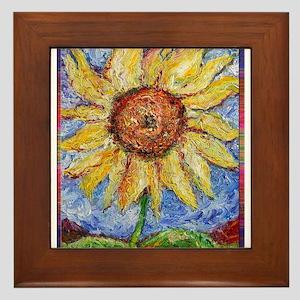 Sunflower!Colorful flower art! Framed Tile