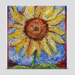 Sunflower!Colorful flower art! Tile Coaster