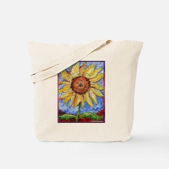 Sunflower!Colorful flower art! Tote Bag