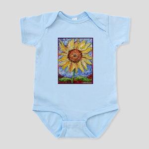 Sunflower!Colorful flower art! Infant Bodysuit