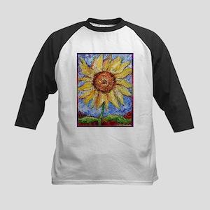 Sunflower!Colorful flower art! Kids Baseball Jerse