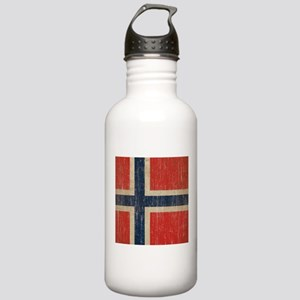 Vintage Norway Flag Stainless Water Bottle 1.0L