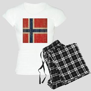 Vintage Norway Flag Women's Light Pajamas