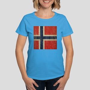 Vintage Norway Flag Women's Dark T-Shirt