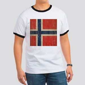 Vintage Norway Flag Ringer T