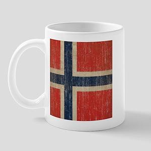 Vintage Norway Flag Mug